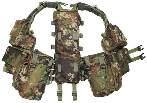 Tactical Weste mit vielen Taschen vegetato