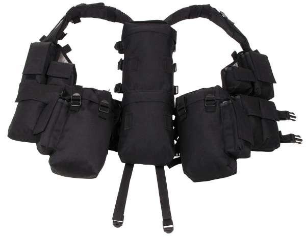 Tactical Weste mit vielen Taschen schwarz