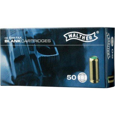Walther Platzpatronen 50 Schuss 9 mm P.A.K.