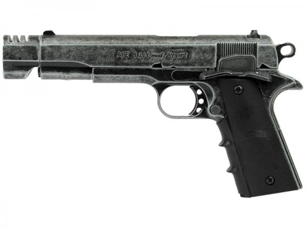 ME Mod. 1911 Sport antik look Schreckschuss Pistole 9 mm P.A.K. brüniert