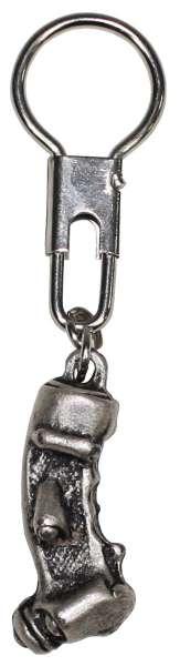 Schlüsselanhänger Steuerknüppel silber