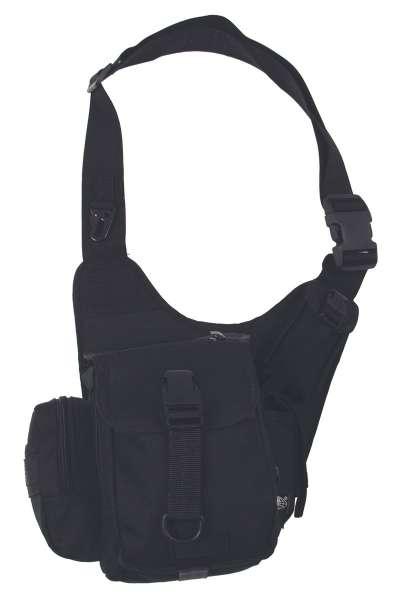 Schulter-Umhängetasche schwarz