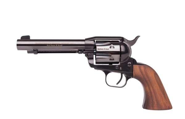 Western-Single-Action Schreckschuss Revolver 9 mm R.K. brüniert