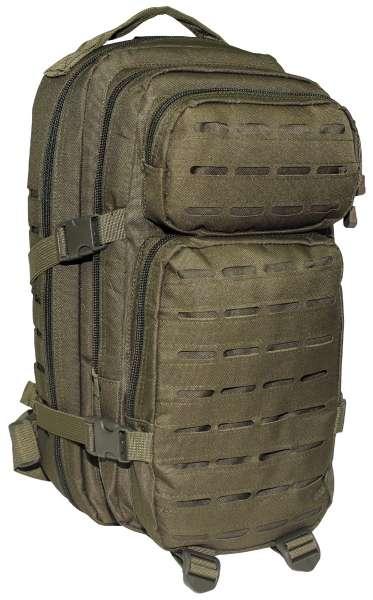 US Rucksack Assault I Laser oliv