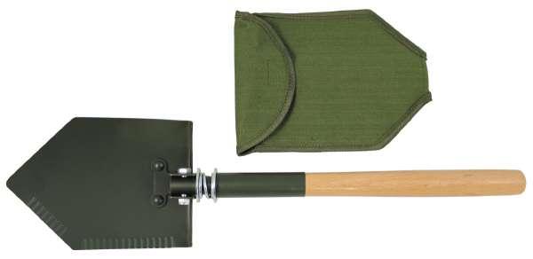 Klappspaten Holzstiel Deluxe 2-teilig mit Tasche