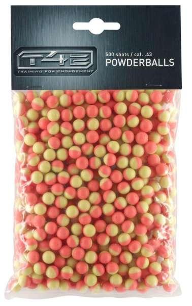 T4E Powderballs 500 Schuss cal. .43 mit weißer Kreide gefüllt
