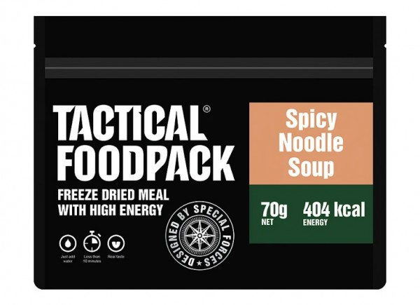 Tactical Foodpack Outdoor-Nahrung würzige Nudelsuppe