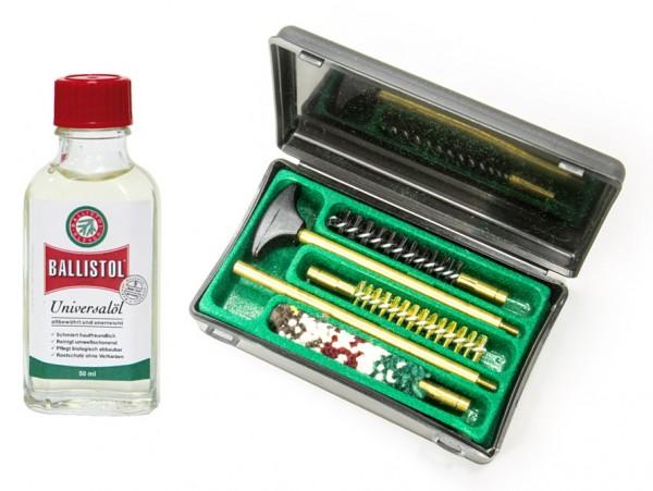Waffen-Reinigungsset für Cal. 9 mm inkl. Ballistol Universalöl