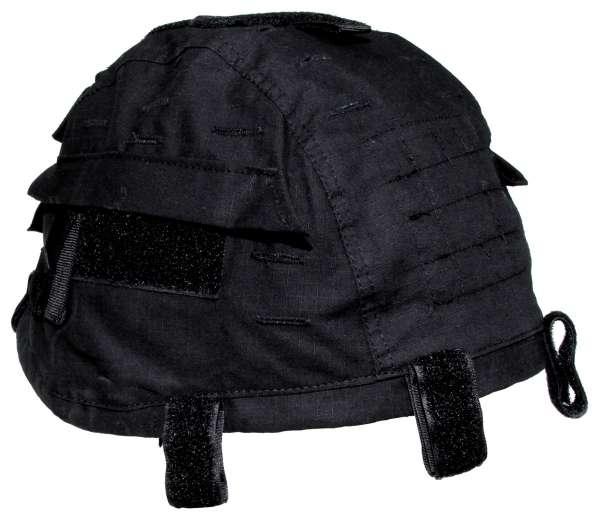 Helmbezug mit Taschen größenverstellbar schwarz
