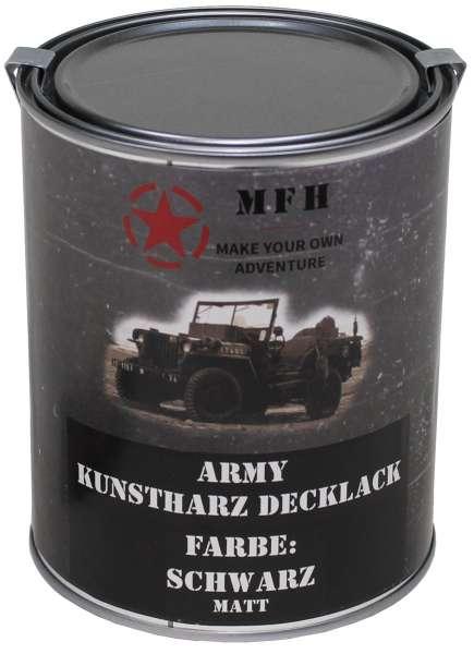 """Farbdose """"Army"""" SCHWARZ matt 1 Liter"""