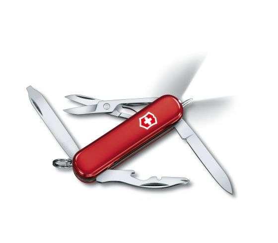 Kleines Taschenmesser Midnite Manager rot mit LED