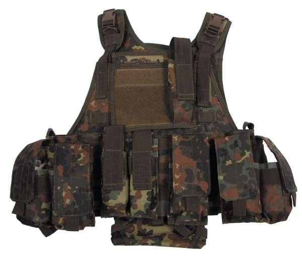 """Weste """"Ranger"""" mit div. Taschen Modular System flecktarn"""