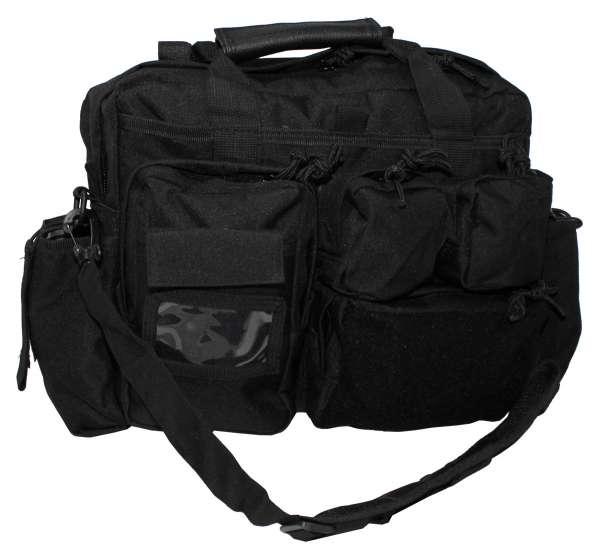 Einsatz-Tasche schwarz mit Schultergurt