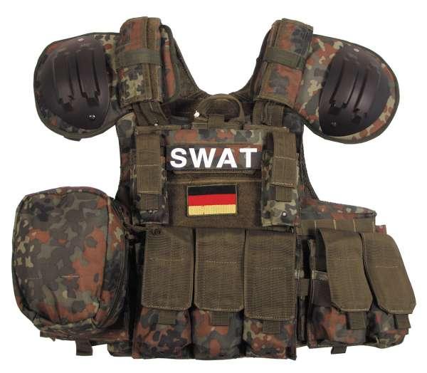 """Weste """"Combat"""" mit div. Taschen flecktarn"""
