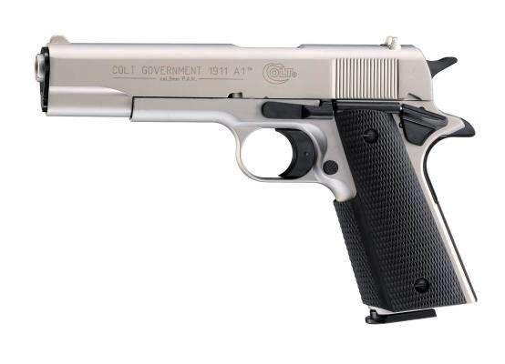 Colt Government 1911 A1 Schreckschuss Pistole 9 mm P.A.K. vernickelt