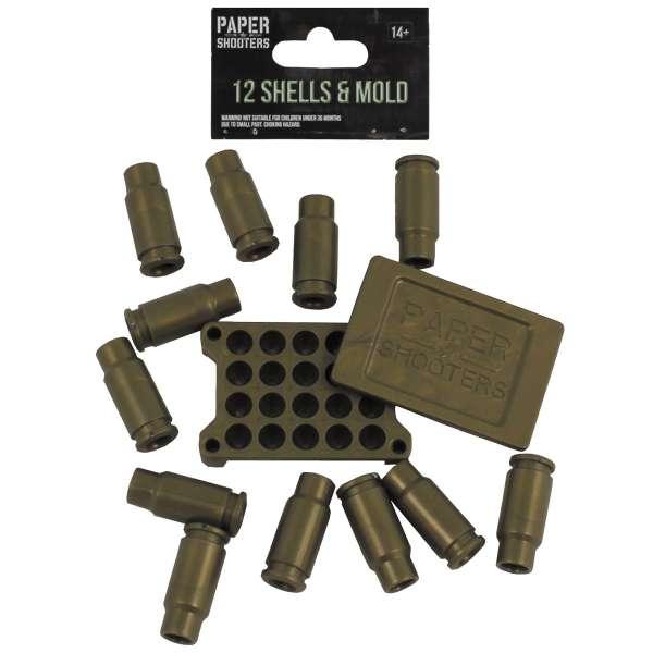 PAPER SHOOTERS, Hülsen, 12 Stück
