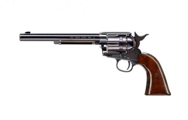 "Colt SAA .45-7.5"" CO2 Revolver 4,5 mm Diabolo Blue Finish"