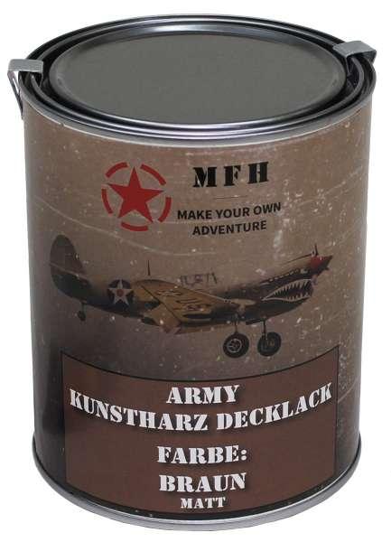 "Farbdose ""Army"" BRAUN matt 1 Liter"
