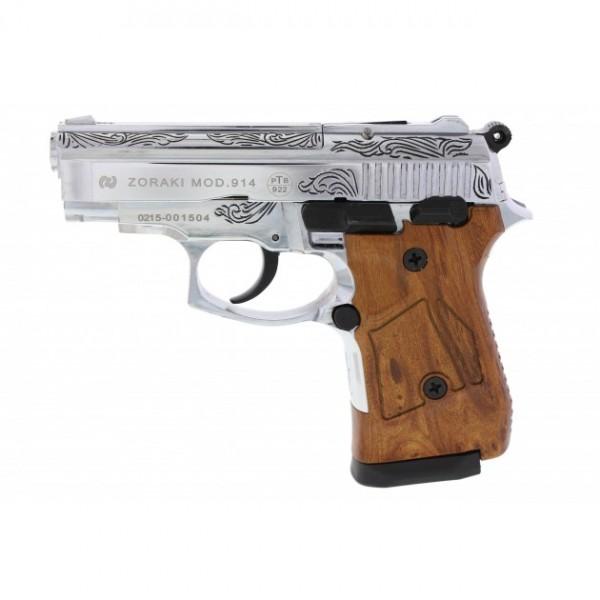 Zoraki 914 Schreckschuss Pistole 9 mm P.A.K. graviert und verchromt