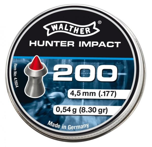 Walther Hunter Impact Spitzkopf Diabolos 4,5 mm 200 Stück