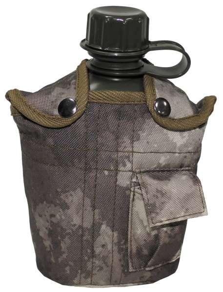 US Plastikfeldflasche 1 l mit Hülle HDT-camo BPA-frei