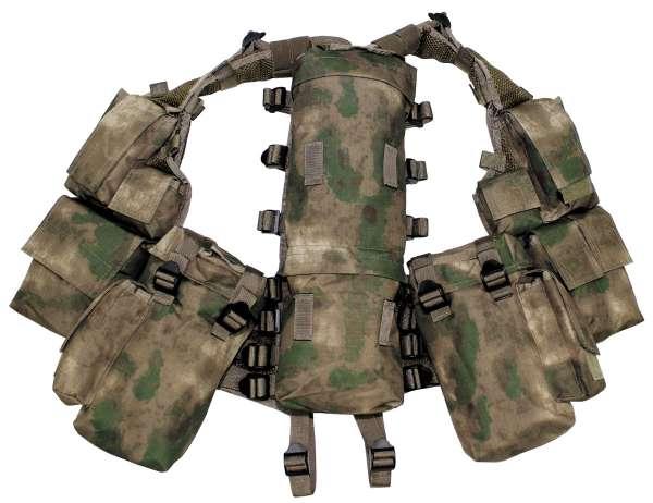 Tactical Weste mit vielen Taschen HDT-camo FG