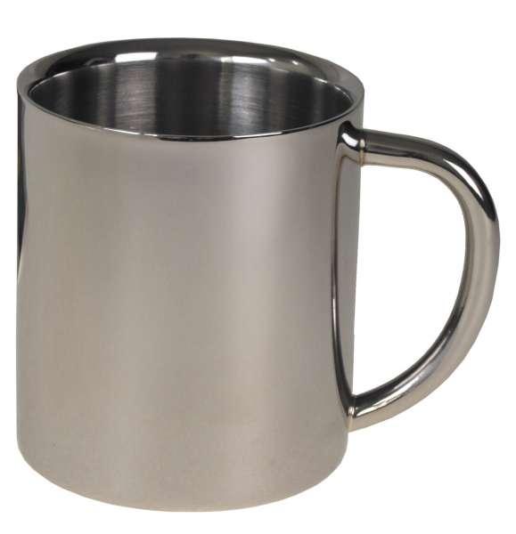 Tasse Edelstahl doppelwandig 250 ml