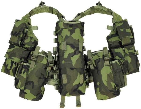 Tactical Weste mit vielen Taschen M 95 CZ tarn