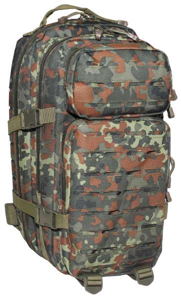 US Rucksack Assault I Laser flecktarn