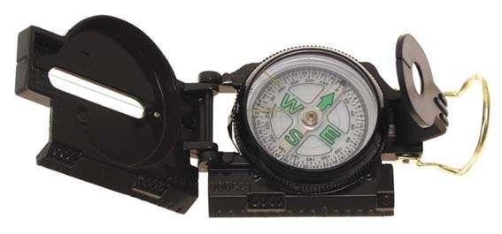 Kompass, US-Typ, Metallgehäuse, flüssigkeitsgedämpft