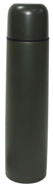 Vakuum-Thermoskanne 1 l Schraubverschluss oliv