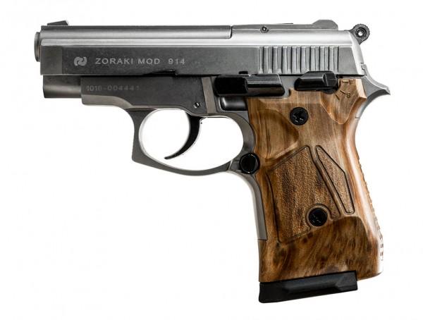 Zoraki 914 Schreckschuss Pistole 9 mm P.A.K. titan mit Holzgriff