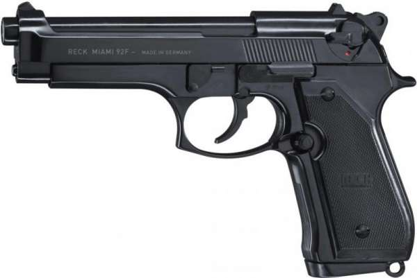 Reck Miami 92F Schreckschuss Pistole 9 mm P.A.K. brüniert