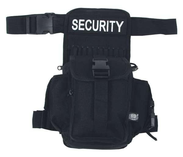 Hüft- Oberschenkeltasche SECURITY schwarz
