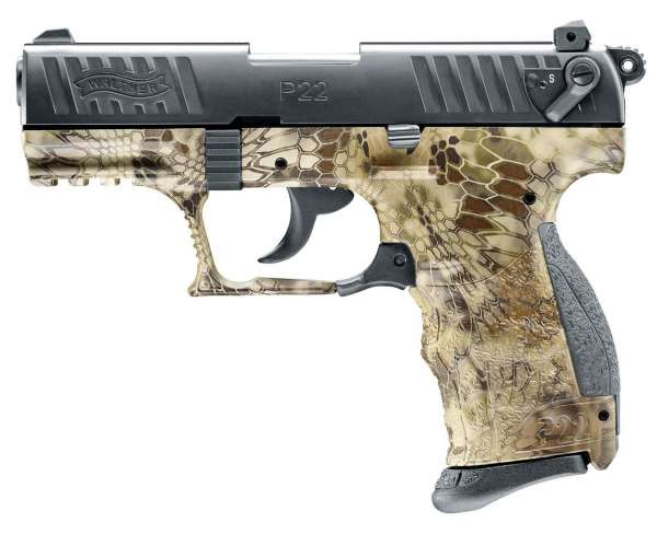 Walther P22Q Schreckschuss Pistole 9 mm P.A.K. Kryptek
