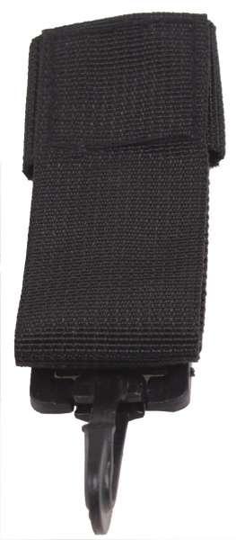 Schlüsselanhänger PD Nylon PVC Haken schwarz