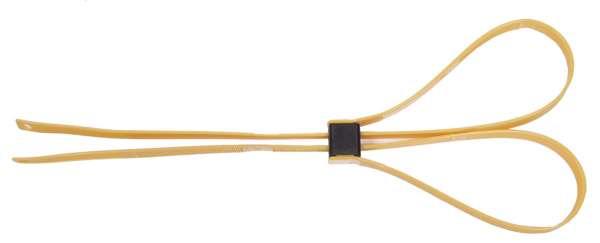Kunststoffhandschellen 10 St./P. 550x12 5mm gelb