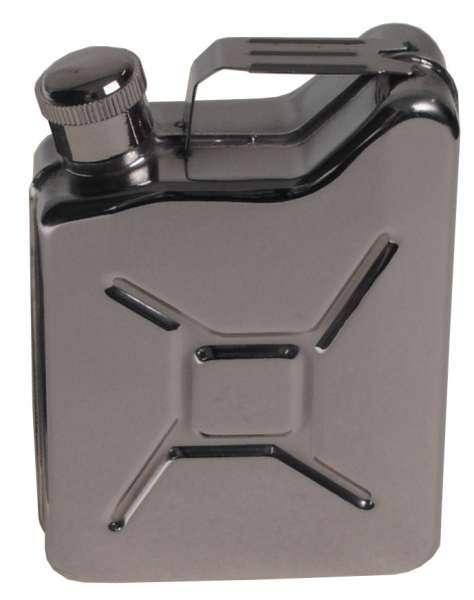 """Taschenflasche """"Kanister"""" Edelstahl 6 OZ 170 ml"""