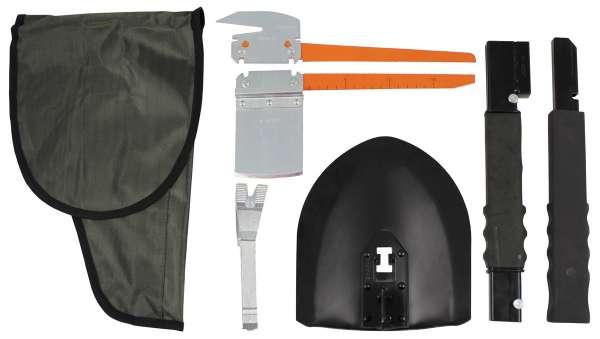 """Rettungsset """"SOS"""" 12 Werkzeuge mit Tasche oliv"""