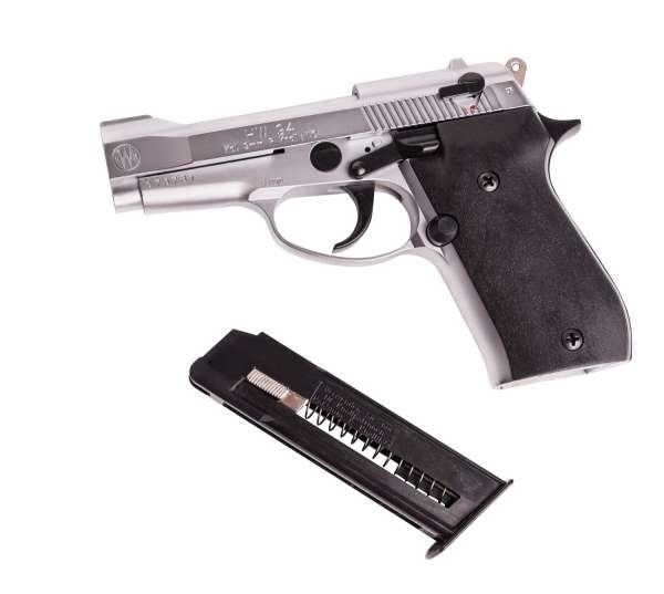 Weihrauch HW 94 Schreckschuss Pistole 9 mm R.K. Stainless