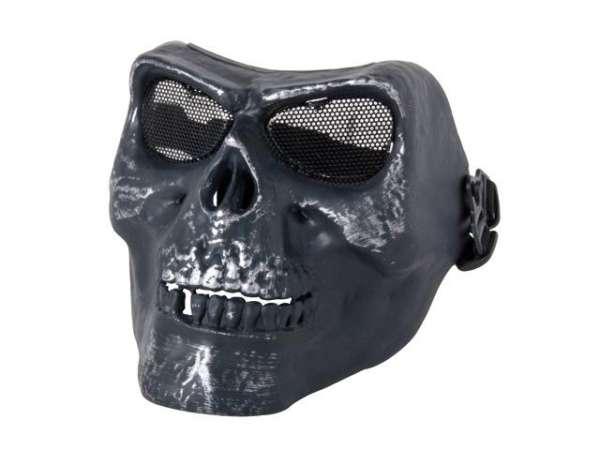Totenkopfmaske schwarz