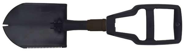 Klappspaten Plastikgriff 3-teilig schwarz mit Tasche