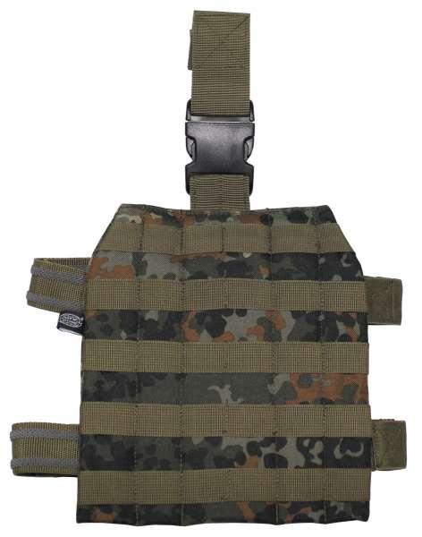 Trägerplatte für Mollesystem Beinbefestigung flecktarn
