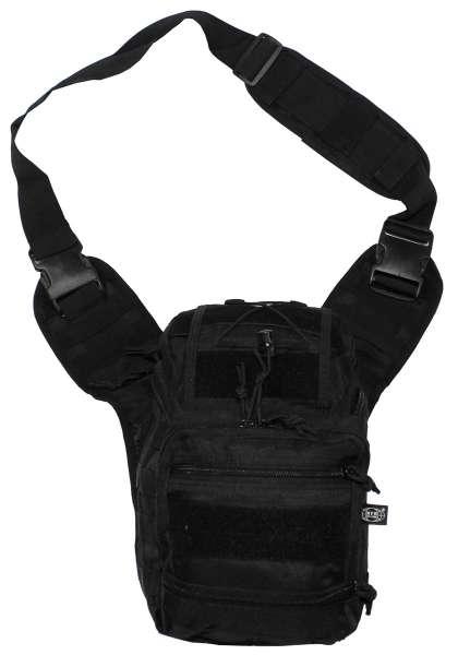 Schulter-Umhängetasche Deluxe schwarz