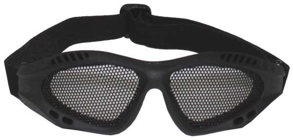 Airsoftbrille schwarz Metall-Gittereinsatz Deko