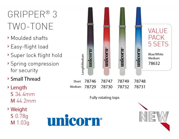 Unicorn Gripper 3 TWO-TONE Shaft