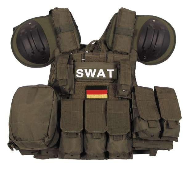 """Weste """"Combat"""" mit div. Taschen oliv"""