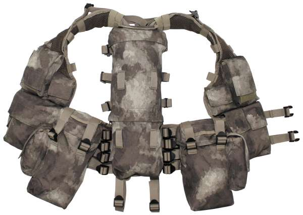 Tactical Weste mit vielen Taschen HDT-camo