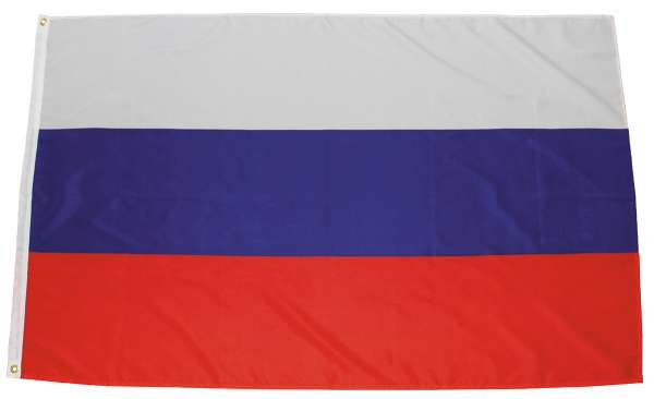 Fahne Russland Polyester