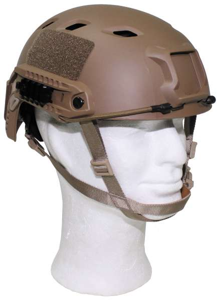 US Helm FAST-Fallschirmjäger coyote Rails ABS-Kunststoff